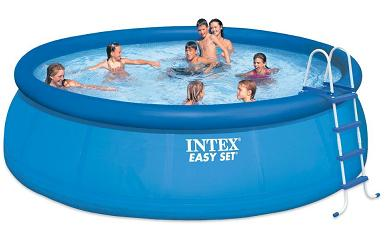 Intex Round Above Ground Pool Easy Set 15 Foot By 48 Inch