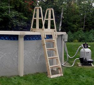 Above ground pool ladder step system big lots swimming for Above ground pools for sale