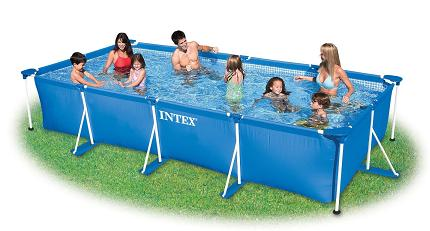 Rectangle above ground pool Big Lots Swimming Pools More