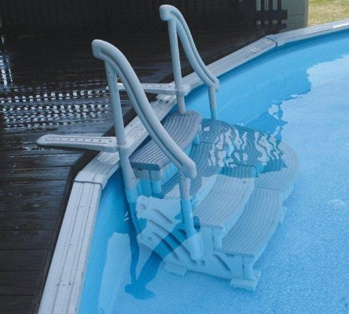 Above Ground Pool Ladder & Step System | Big Lots Swimming Pools & More