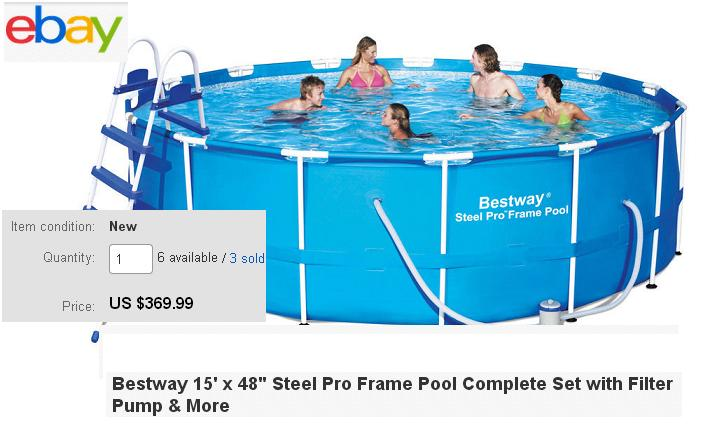 Ebay Bestway 15 39 X 48 Above Ground Pools Offer Big Lots Swimming Pools More